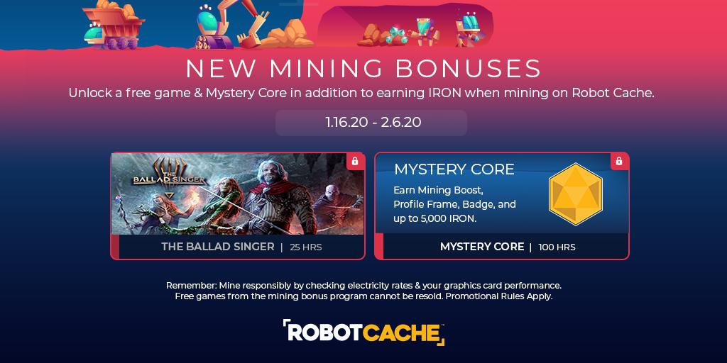 New Mining Bonuses